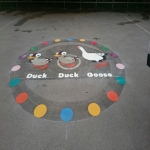 Traditional Play Area Game Markings in Dorset 5