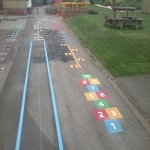 Daily Mile Line Marking in Swansea 7