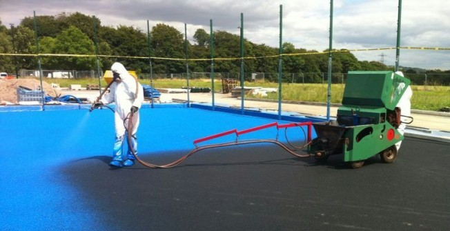 Colour Coating Sports Courts in Isle of Anglesey