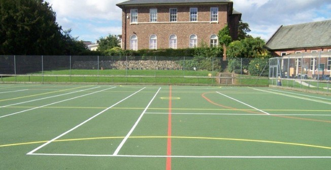 MUGA Basketball Markings