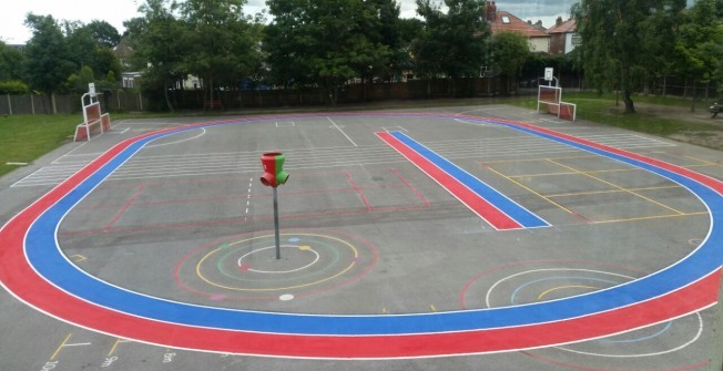 Daily Mile Playground Painting in Swansea