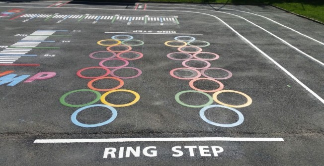 Thermoplastic Games Markings in Bilton