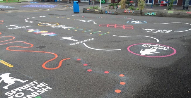Key Stage 2 Playgrounds in Aspley Heath