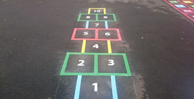 Play Group Floor Markings in Abbey Dore