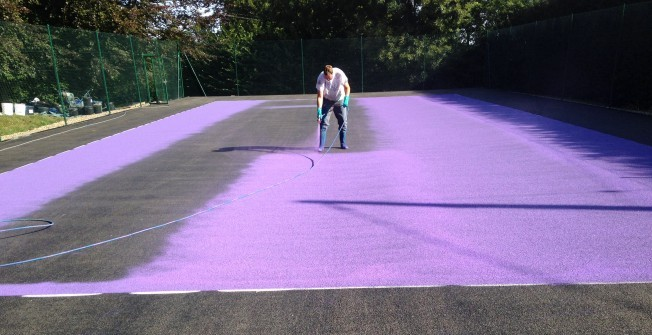 MUGA Colour Coatings in Gellideg