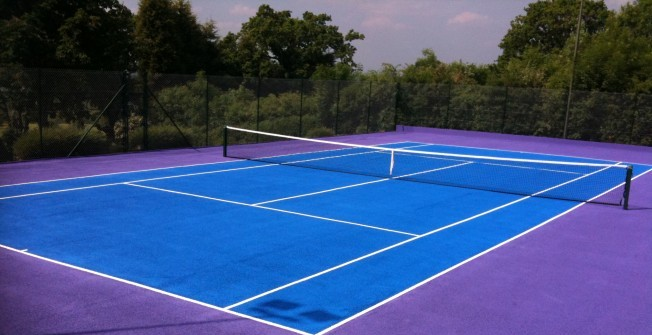 School Tennis Court Painting