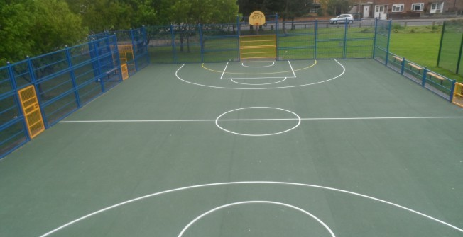 School Basketball Court Painting in West Sussex