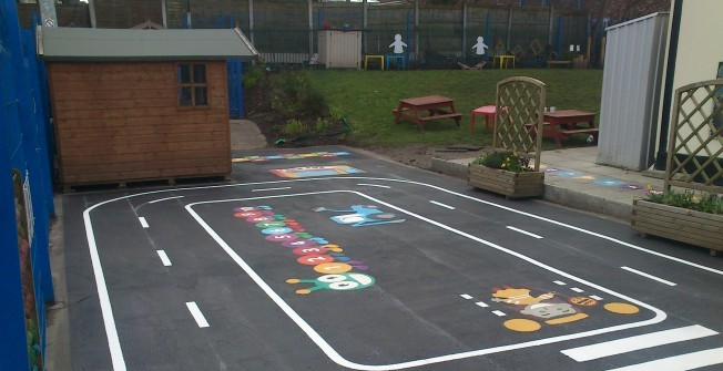 Thermoplastic Floor Markings in Abermule/Aber-miwl
