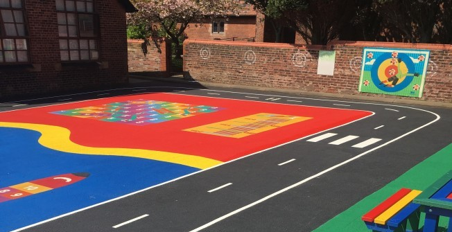 School Playground Painting in Bradwell Hills