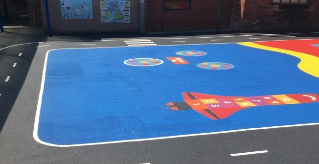 Play Area Surface Painting in Abington Pigotts