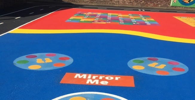 Kindergarten Playground Paint in Abbey Dore