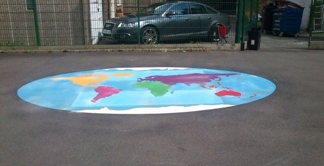 Educational Floor Graphics in Bodle Street Green